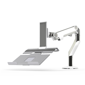 Humanscale Monitor Arm with Notebook Holder